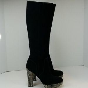 Michael Kors Beautiful Regina Black Suede Boots